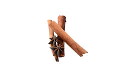 Anice and cinnamon. Spices are fragrant royalty free stock photos