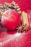 Anice e cannella della mela di natale Immagine Stock