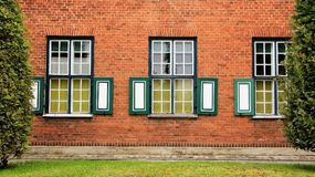 Anicent Holland  Houes With Window Style Royalty Free Stock Images
