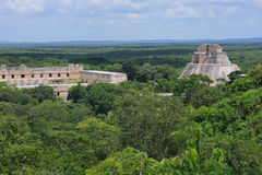 Anicent mayan pyramid royalty free stock photography