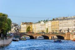 Anichkov桥梁 库存照片