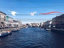 Anichkov most Zdjęcie Royalty Free