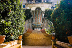 Anicient fontanna w willi d'Este Tivoli, Włochy Zdjęcie Royalty Free