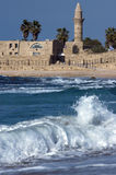 Anicient mosque in Caesarea Stock Photo