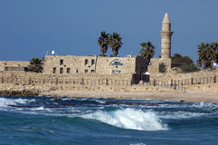 Anicient mosque in Caesarea Stock Image