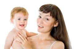 Anielski dziecko i jego matkujemy fotografia stock