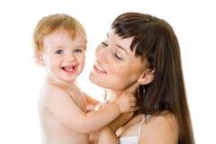 Anielski dziecko i jego matkujemy zdjęcia stock