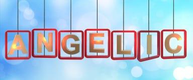 Anielski listów wieszać ilustracja wektor
