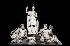 aniene dea della e Fontana il l Roma tevere tra Zdjęcie Stock