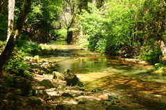 The Aniene river near Subiaco Stock Photos