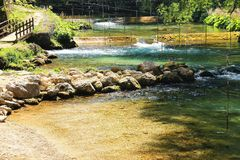 The Aniene river near Subiaco Royalty Free Stock Image