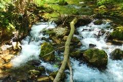 The Aniene river near Subiaco Stock Photography
