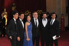 Anil Kapoor, Danny Boyle, colaborador Patel, Pinto de Freida, Irrfan Khan, Madhur Mittal Foto de Stock