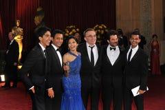 Anil Kapoor, Danny Boyle, revelador Patel, Pinto de Freida, Irrfan Khan, Madhur Mittal Foto de archivo