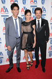 Anil Kapoor,Dev Patel,Freida Pinto Royalty Free Stock Photography