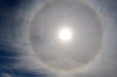 Anillo alrededor del sol foto de archivo libre de regalías