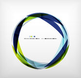 Anillo azul - burbuja abstracta del negocio Fotografía de archivo