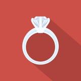 Anillo con el diamante Imagen de archivo libre de regalías