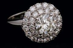 Anillo con los diamantes Imagen de archivo libre de regalías