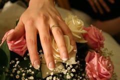Anillo de bodas Fotos de archivo libres de regalías