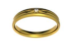 Anillo de bodas con el diamante Imágenes de archivo libres de regalías