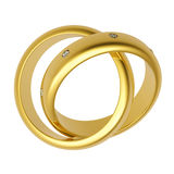 anillo de bodas del oro 3d Fotos de archivo libres de regalías