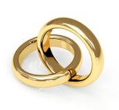 Anillo de bodas del oro dos 3d Fotografía de archivo libre de regalías