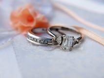 Anillo de bodas del platino 5 Imagen de archivo libre de regalías