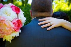 Anillo de bodas nupcial de los pares Imagen de archivo libre de regalías