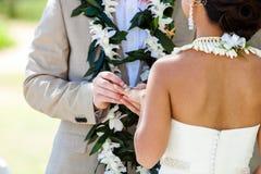 Anillo de bodas para ella Fotografía de archivo