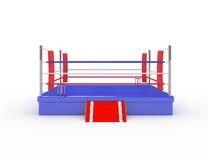 anillo de boxeo 3d Fotos de archivo