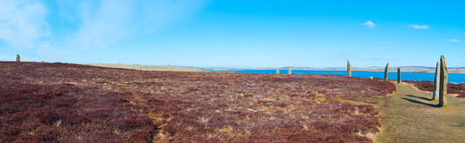 Anillo de Brodgar, isla de las Orcadas Fotografía de archivo libre de regalías
