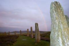 Anillo de Brodgar, Orkneys, Escocia foto de archivo libre de regalías