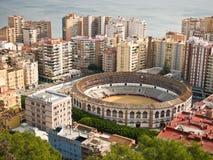 Anillo de Bull de la ciudad de Málaga Imágenes de archivo libres de regalías