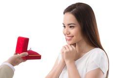 Anillo de compromiso Imágenes de archivo libres de regalías