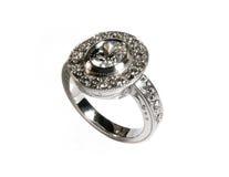 Anillo de compromiso del diamante Imagen de archivo libre de regalías