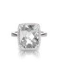 Anillo de compromiso del solitario del diamante Fotografía de archivo libre de regalías