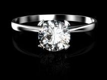 Anillo de diamante Imagen de archivo