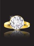 Anillo de diamante Imagenes de archivo