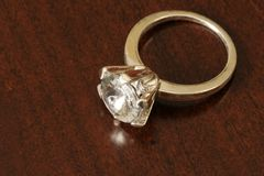Anillo de diamante Imagen de archivo libre de regalías