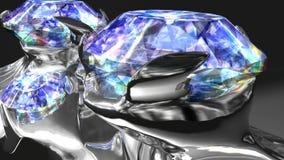 Anillo de diamante con diseño moderno stock de ilustración