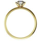 Anillo de diamante del oro Fotografía de archivo