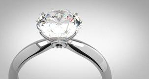Anillo de diamante del solitario metrajes