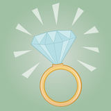 Anillo de diamante precioso Imagen de archivo libre de regalías