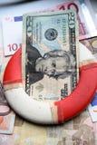 Anillo de Lifebuoy de la economía imagen de archivo libre de regalías