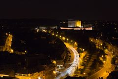 Anillo de Lovaina en la noche foto de archivo libre de regalías