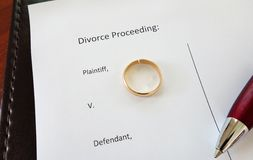 Anillo del divorcio Fotografía de archivo