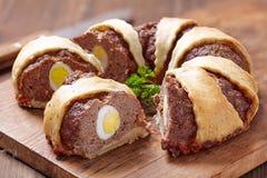 Anillo del pan con carne Fotografía de archivo