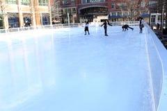 Anillo del patinaje de hielo Imagenes de archivo