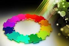 anillo del rompecabezas 3d Fotografía de archivo libre de regalías